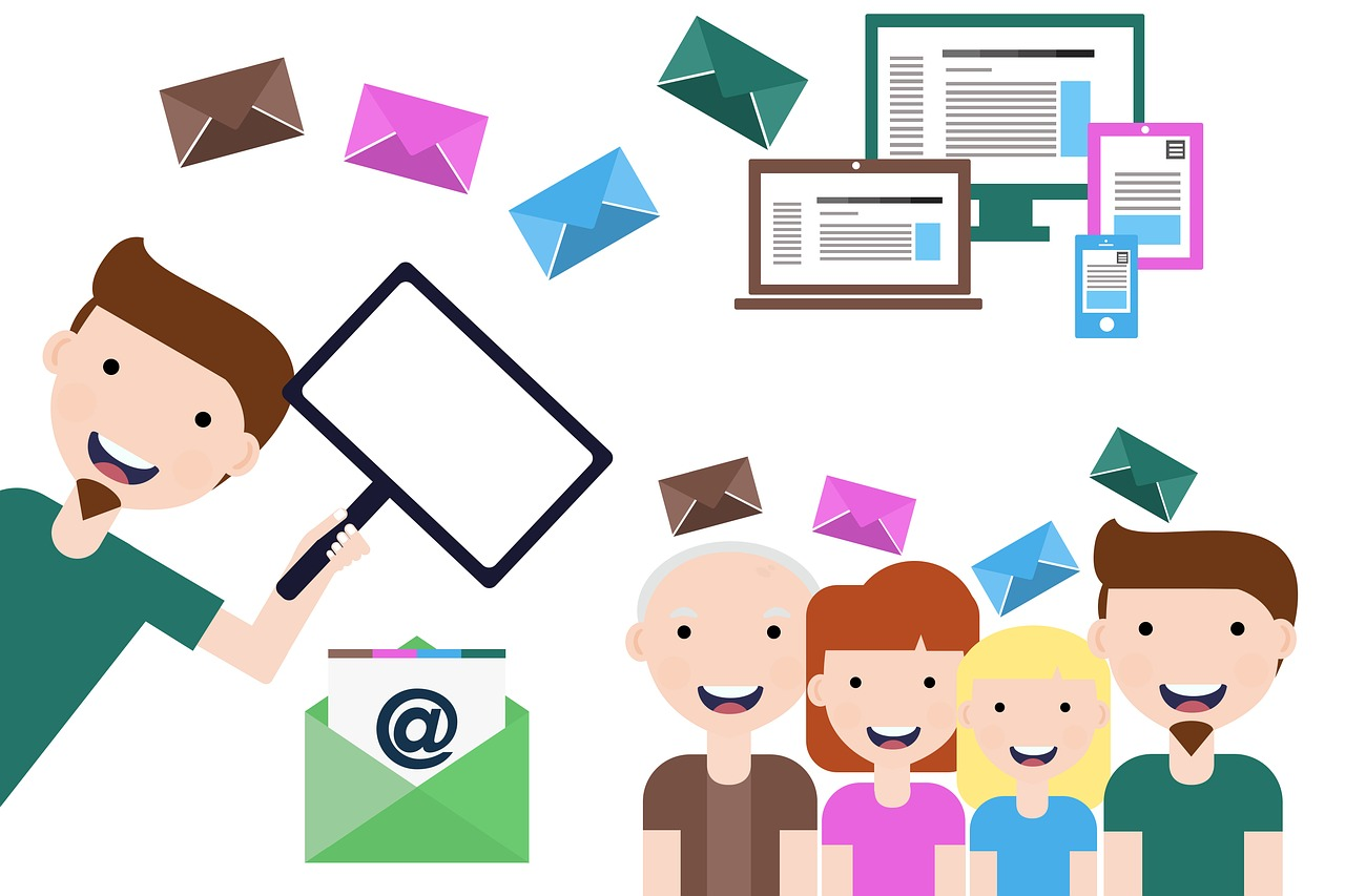 Email contacts for marketing